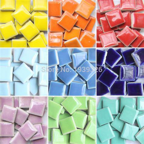 diy colorful mosaic tiles pieces wall craft aquarium