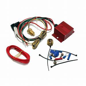 Red Adjustable Electric Cooling Fan Controller Wiring
