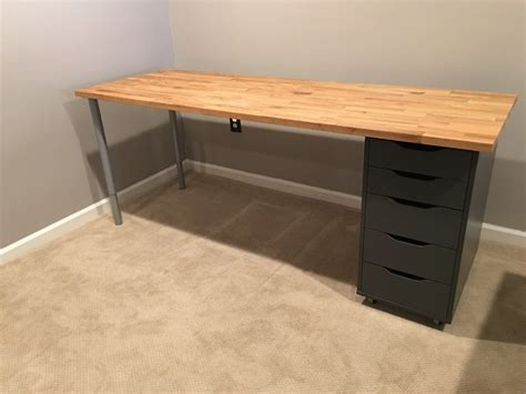 I don't think it would hurt to drill pilot holes, but i don't think it. IKEA Hack: Custom, Transforming Home Office Desks | Saving Amy