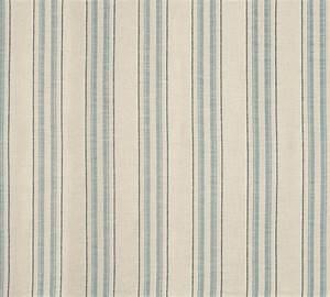 Hadley Seaspray Blue Stripe Linen Mix Upholstery Fabric ...