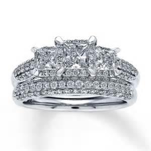 princess cut wedding set bridal sets princess cut bridal sets wedding rings white gold
