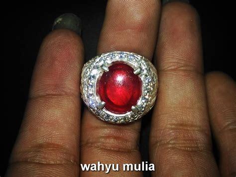 batu cincin mirah delima ruby asli kode 687 wahyu mulia