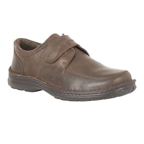 Lotus Men's Canley Brown Grain Leather Velcro Shoes Men