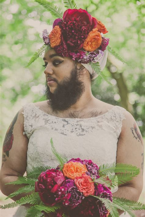 flower beard bridals  harnaam kaur rock  roll bride