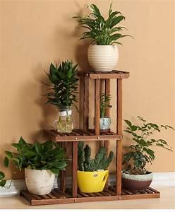 3, Tier, Versatile, Indoor, Plant, Shelf, Decorative, Wood, Plant, Stand, Plant, Holder