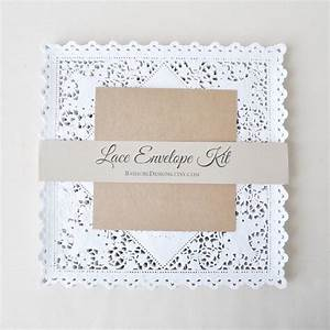 diy lace envelope kit wedding invitation envelope liners With simple diy wedding invitation envelope liners