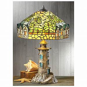 castlecreek tiffany style lighthouse table lamp 301226 With miss k table lamp closeout special