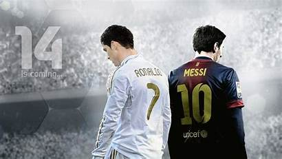 Messi Ronaldo Papers Info Wall