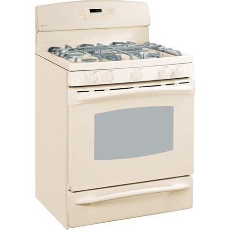 bisque color shop ge profile 30 inch 5 burner freestanding gas range