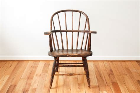 antique windsor antique wood chair spindle back chair