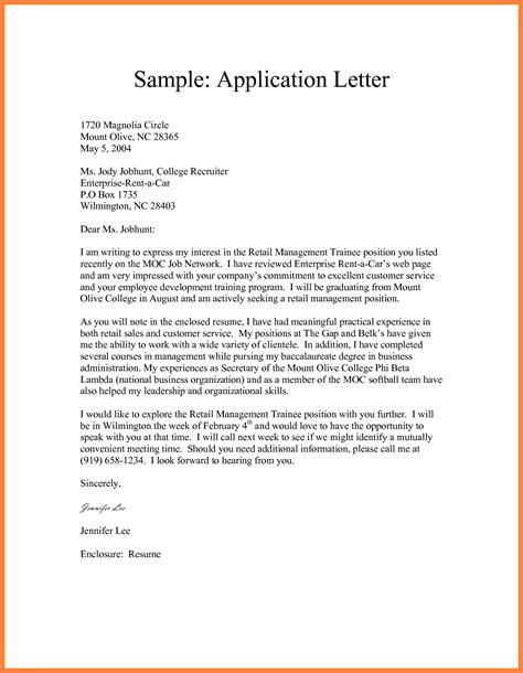 formal application format sample letter  semi block