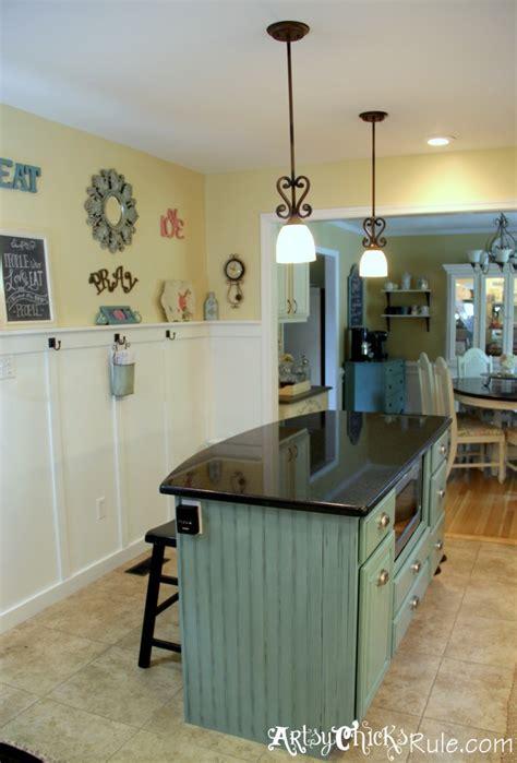 paint kitchen island kitchen island makeover duck egg blue chalk paint