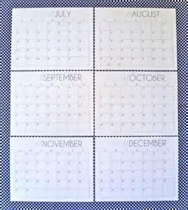 2016 Calendar August through December