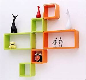 Details about pink wall cubes rectangle set of shelves
