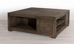 Table De Salon Carrée : table basse carre en bois massif 100 x 100 cm house and garden ~ Teatrodelosmanantiales.com Idées de Décoration