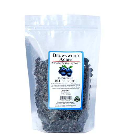 lb unsweetened dried blueberries