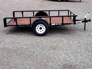 Texas Bragg 6x10 Tilt Utility Trailer  Black