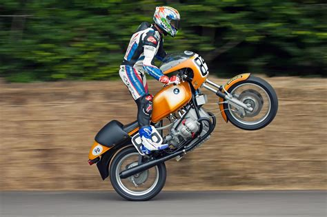 Troy Corser Pulling An Stand Up Wheelie At The Goodwood
