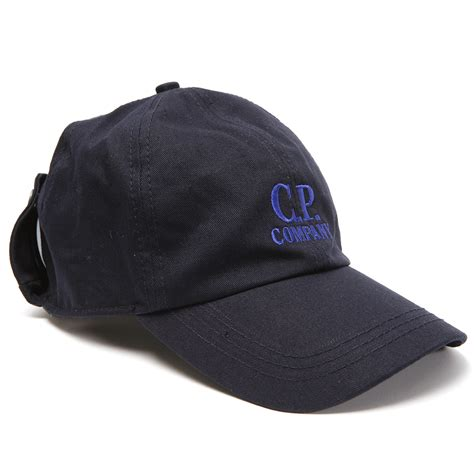 cp company logo hat with goggles oxygen clothing