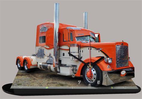 siege auto categorie truck américain peterbilt motors orange miniature camion