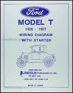 1926 1927 Model T Ford Wiring Diagram 1926 1927 ford model t wiring diagram manual reprint