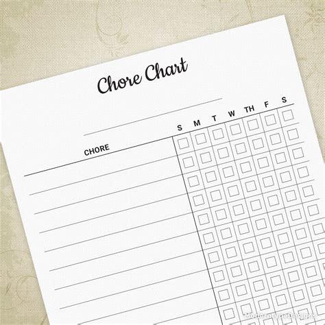 chore chart printable form editable moderntype designs