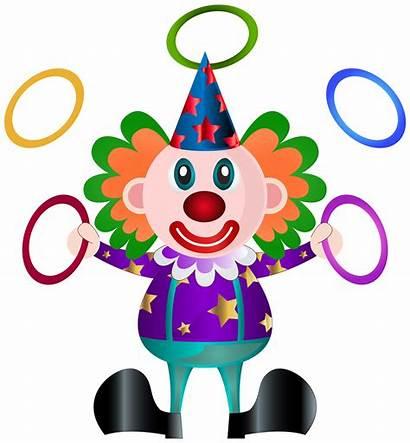 Clown Clipart Clip Transparent Birthday Clowns Drawing