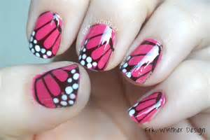 Easy butterfly nail art design tutorial using homemade water decals