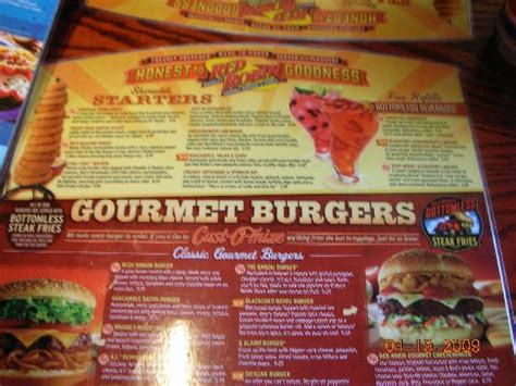 Menu - Picture of Red Robin Gourmet Burgers, Fort Myers ...