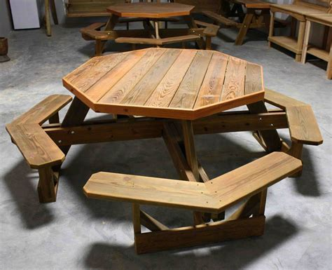 Bold Brown Wooden Octagon Dining Room Table With X Shaped