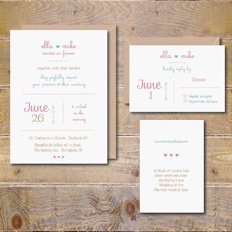 printable wedding invitation diy wedding invitation