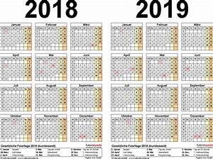 Kalender 18 19 : zweijahreskalender 2018 2019 als excel vorlagen zum ~ Jslefanu.com Haus und Dekorationen