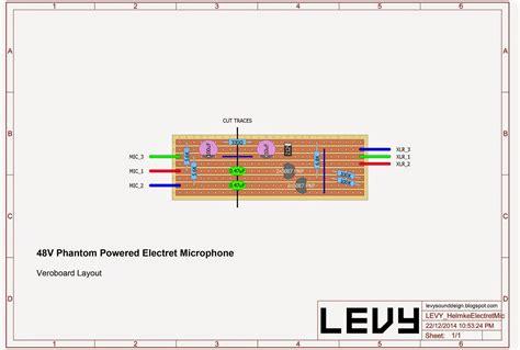 Levy Sound Design Phantom Powered Electret Condenser
