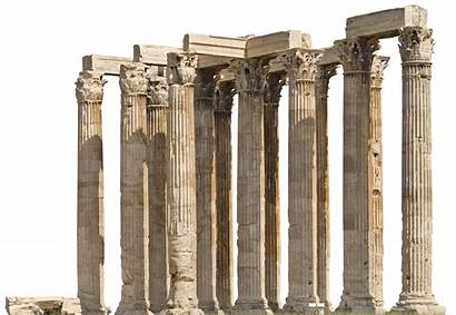 Temple Pillars Ancient Zeus Roman Transparent Greece