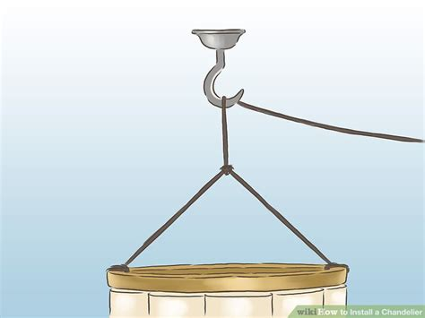 how to fit a chandelier how to install a chandelier with pictures wikihow