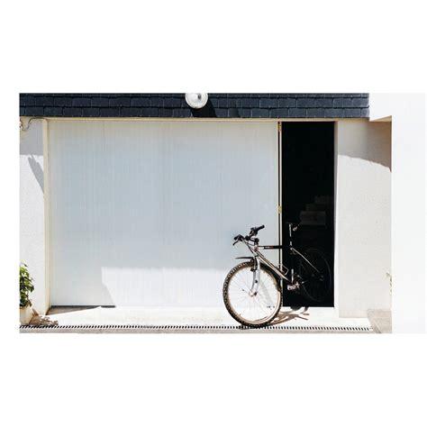 porte de garage coulissante manuelle portillon gauche artens 212 x 300cm leroy merlin
