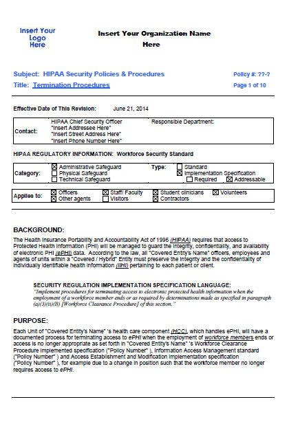 compliance policy template sle hipaa security policy hipaatraining net