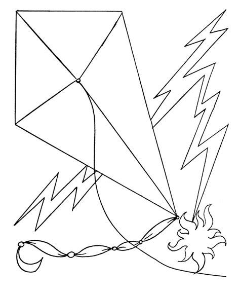 printable kite coloring pages  kids
