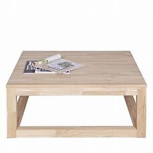 Table Chene Massif : table basse ch ne massif 85x85 wout ~ Melissatoandfro.com Idées de Décoration