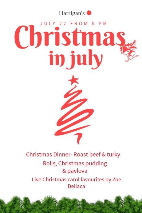 christmas  july poster template postermywall