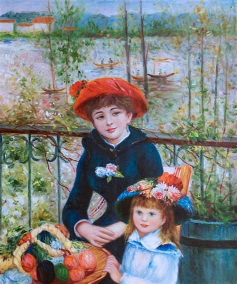 renoir two on the terrace auguste renoir two on the terrace