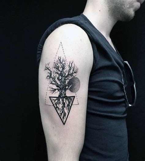 tree roots tattoo designs  men manly ink ideas