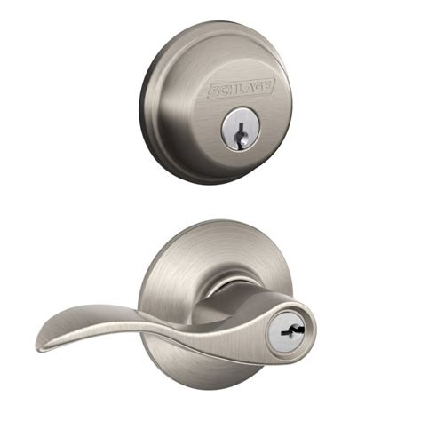 schlage templates schlage fb50acc619 satin nickel accent keyed entry leverset and deadbolt combo from the fb