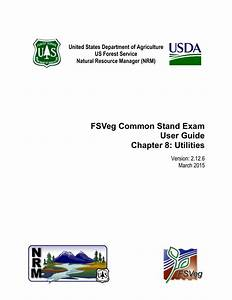 Fsveg Common Stand Exam User Guide Chapter 8  Utilities