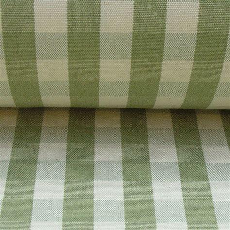 cotton check sage green