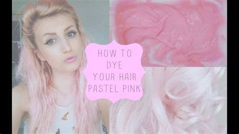 How To Dye Your Hair Pastel Pink Youtube