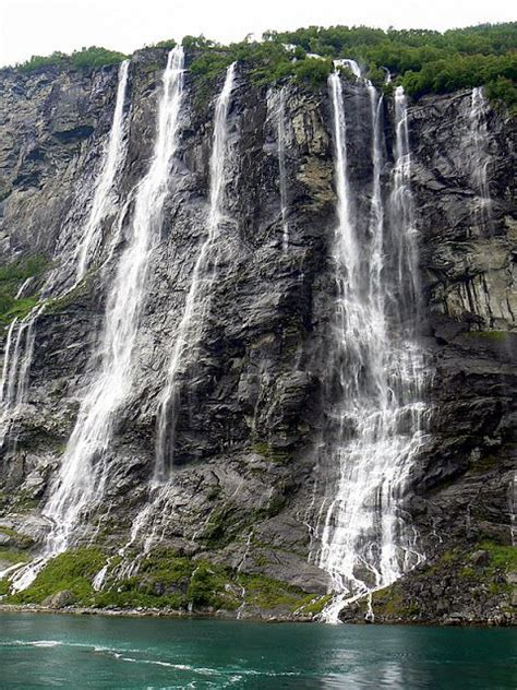 Seven Sisters Waterfall Norway Geo Pinterest