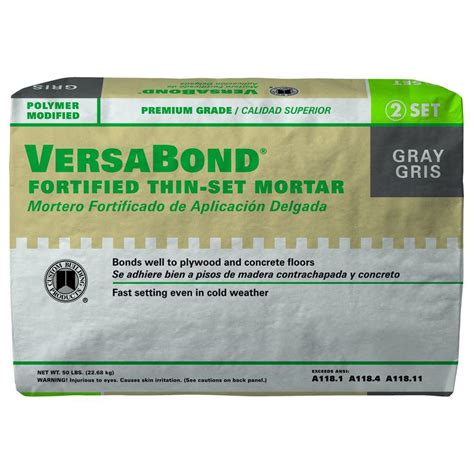 custom building products versabond gray 50 lb fortified thin set mortar mtsg50 the home depot