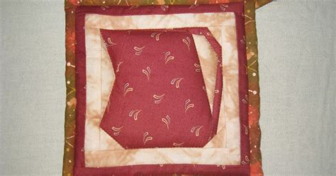akasia home deco quilt pot holder with paper piecing design