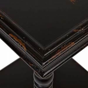 Distressed Black Wooden Side Table Kirklands